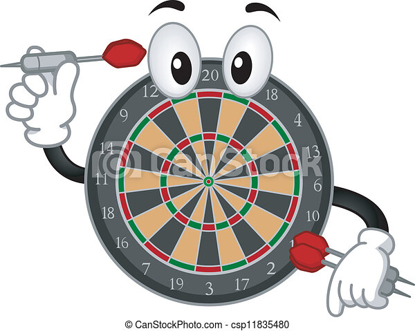 Dartboard Mascot - csp11835480