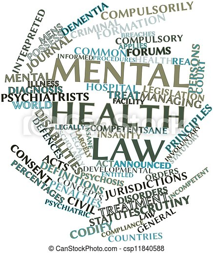 Word cloud for Mental health law - csp11840588