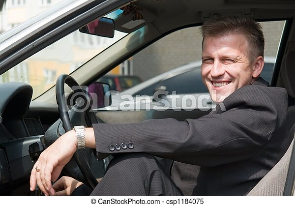 man in the car