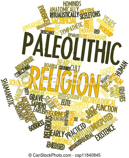 Word cloud for Paleolithic religion - csp11840845