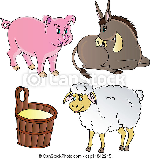 Farm animals theme collection - csp11842245