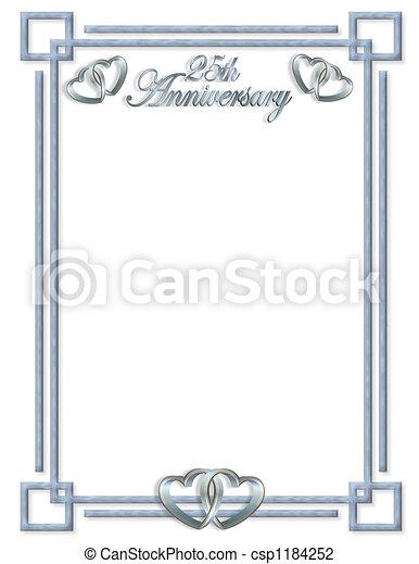25th Anniversary border - csp1184252