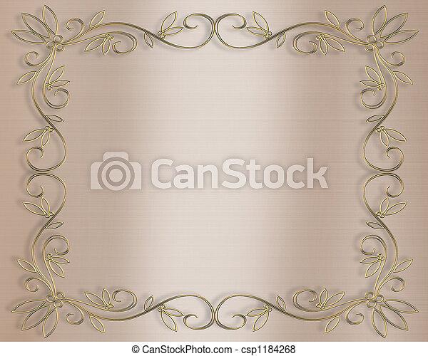 bröllop, inbjudan - csp1184268
