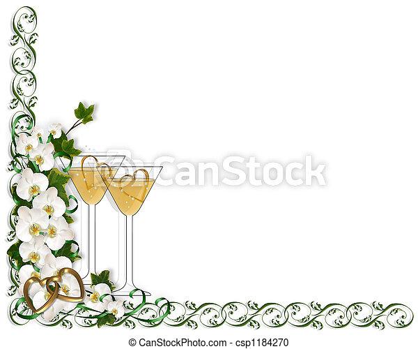 Wedding Invitation orchid - csp1184270