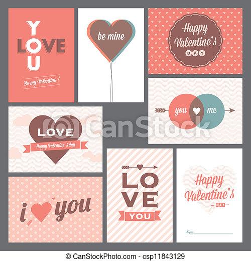 Happy valentines day and weeding ca - csp11843129