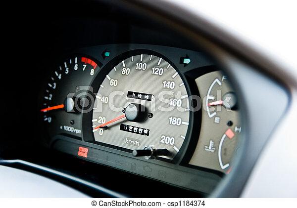 automobile odometer - csp1184374