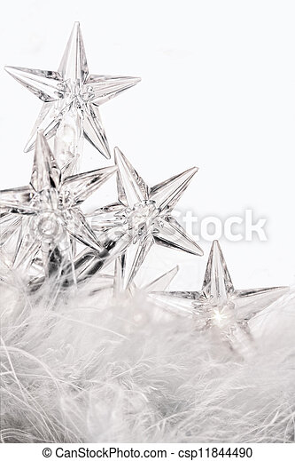 Holiday star lights with white background - csp11844490