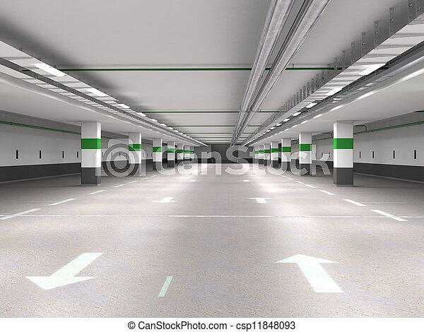 Underground parking - csp11848093