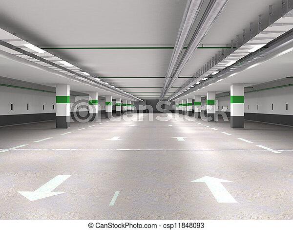 Underground parking - csp11848093