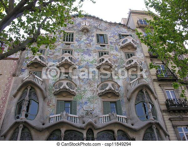 casa fachada estilo batllo tambin
