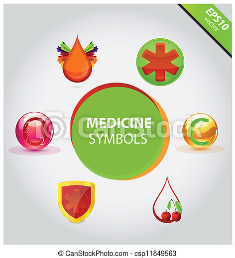 Medical icons and symbols vector set - csp11849563