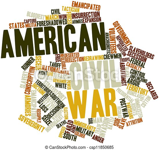 Stock Illustration of American Civil War - Abstract word cloud for ...