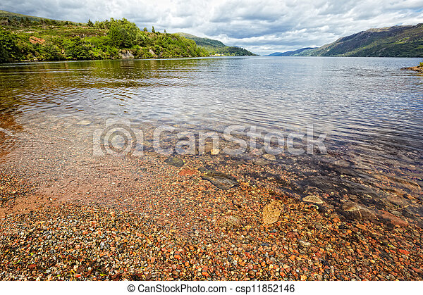 View at lake Loch Ness, Scotland - csp11852146
