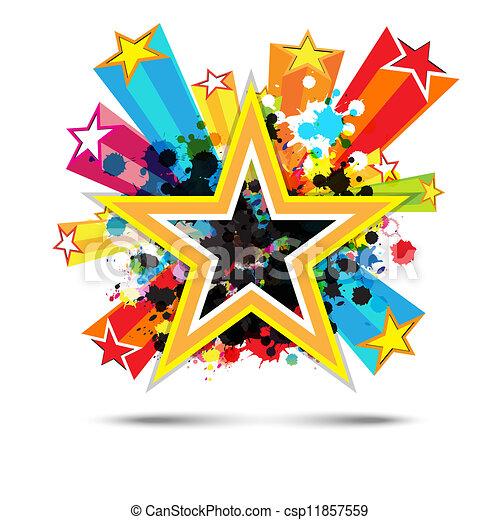 abstract celebration star background design - csp11857559