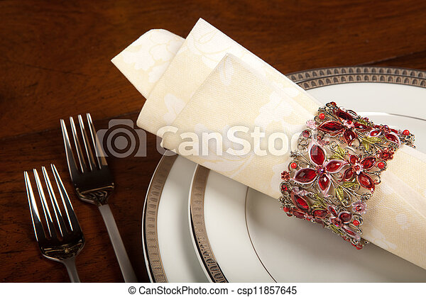 Holiday napkin ring 1 - csp11857645