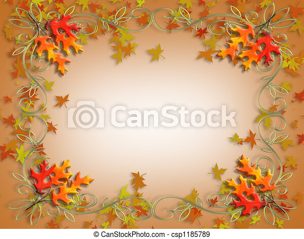 Thanksgiving Fall Leaves  - csp1185789