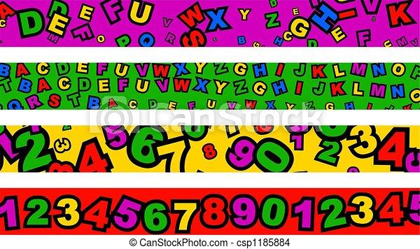 preschool borders - csp1185884
