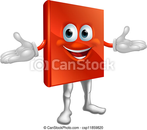 Book mascot education character  - csp11859820