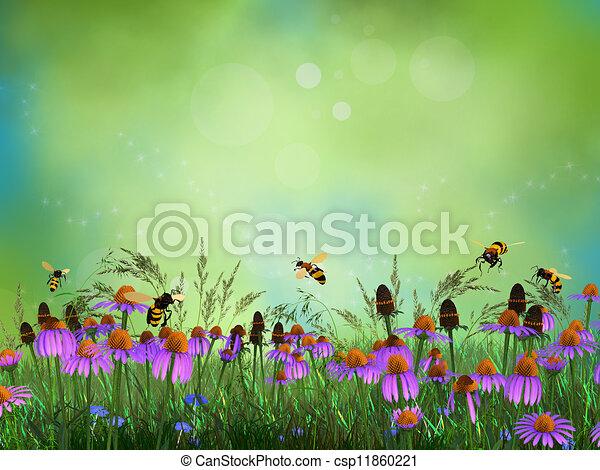 Fantasy meadow - csp11860221