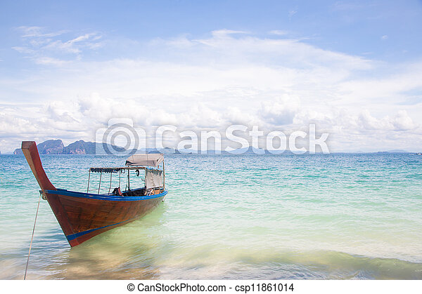 Long Tail Boat on beach - csp11861014