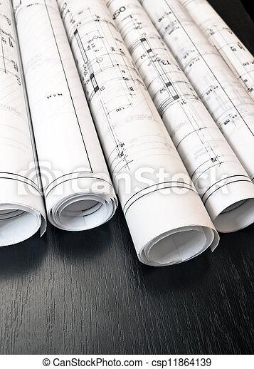 Photos de architecte rouleaux plans plan architecte for Architecte prix plan