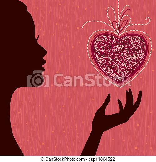 Valentine's Day Card - csp11864522