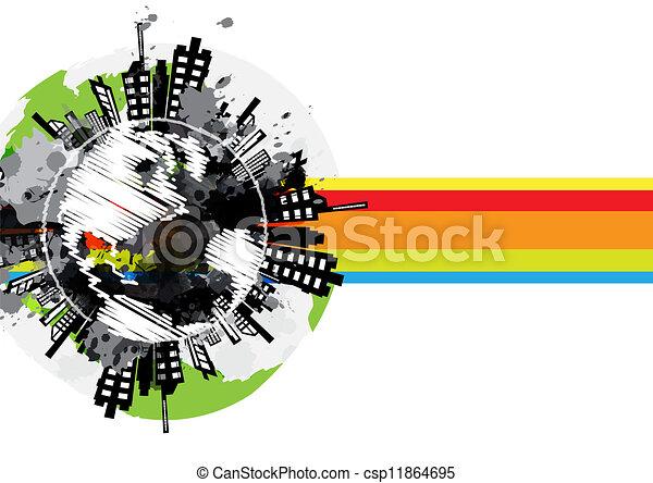 Arte Urbano Logo Dibujo Global Urbano