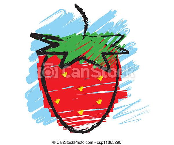 Sketch of a strawberry - csp11865290