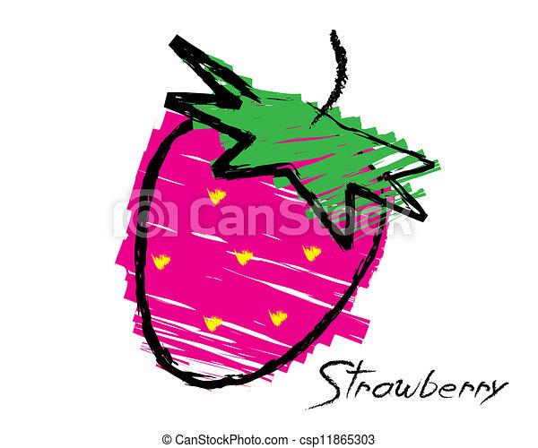 Sketch of a strawberry - csp11865303