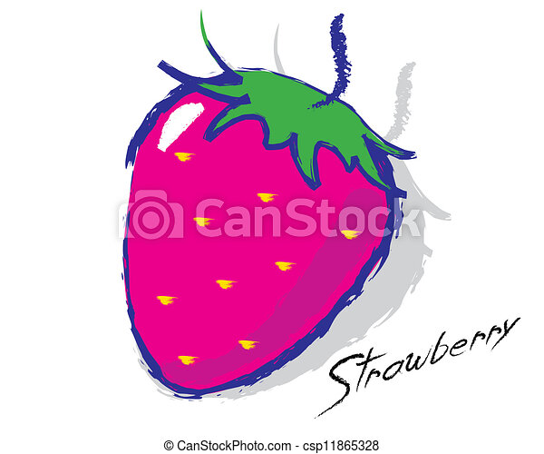 Sketch of a strawberry - csp11865328