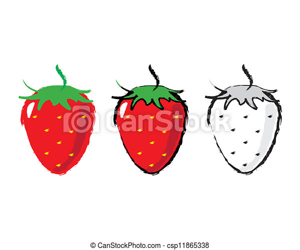 Sketch of a strawberry - csp11865338