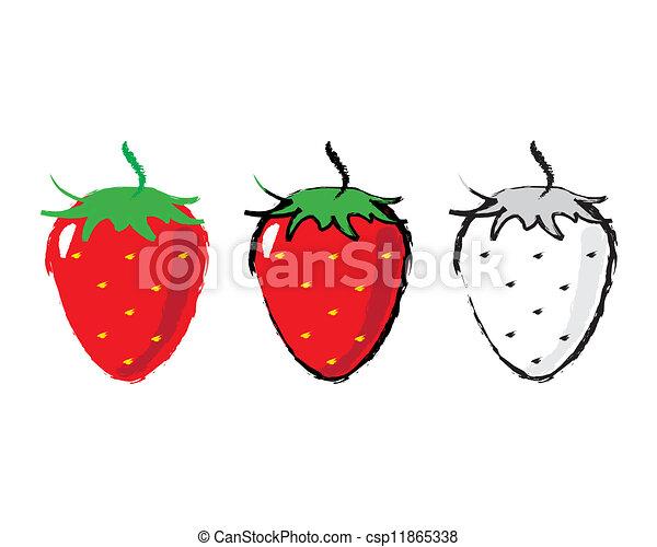 Sketch of a strawberry - csp11865338