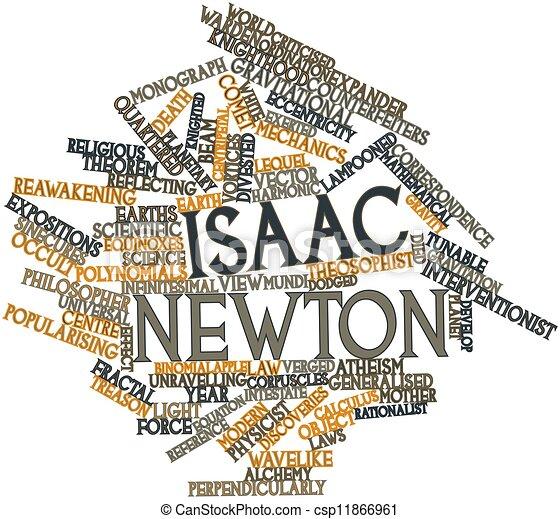 Stock Illustration Of Isaac Newton Abstract Word Cloud