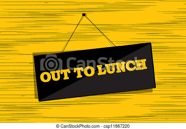 Clip Art of Out to lunch message board grunge sketch csp11867220 ...