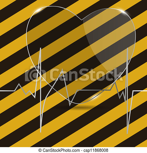 Cardiogram with heart. Vector illustration. - csp11868008