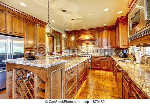 Image de granit countertop bois luxe cuisine for Cuisine luxe bois