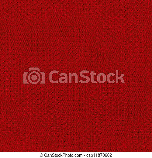 Closeup on a Red Sport Jersey Mesh Textile