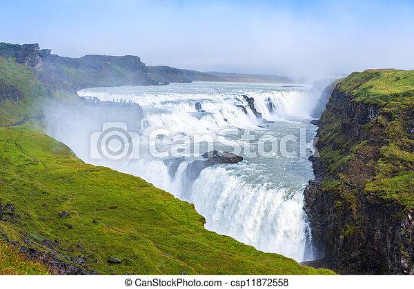 Gulfoss waterfall Iceland - csp11872558