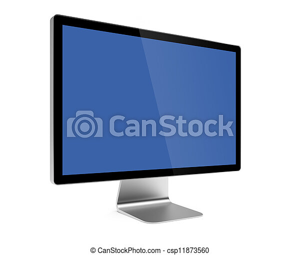 Computer screen isolated - csp11873560