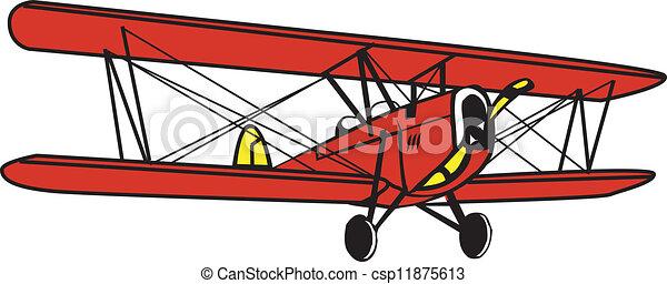 vector clip art of antique biplane biplane csp11875613 biplane clipart airplane clipart cartoon