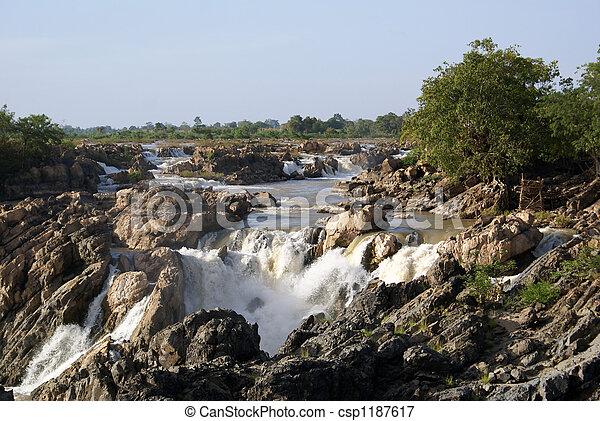 Waterfall in Laos - csp1187617