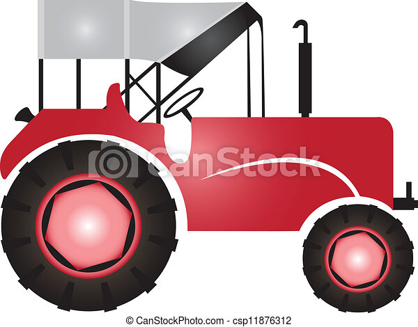 Tractor for agriculture and fields  - csp11876312