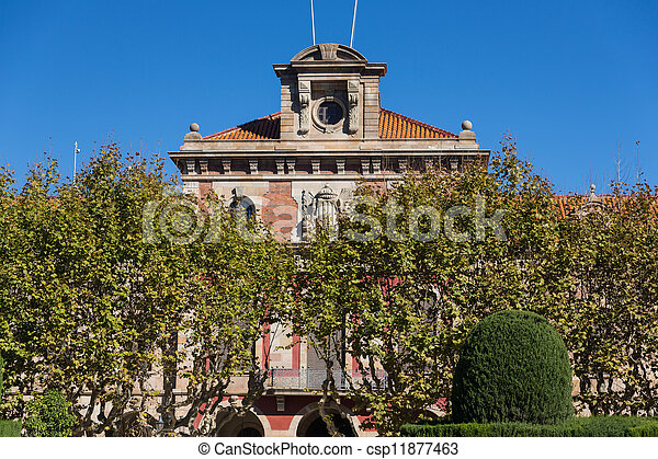 Barcelona - Parliament of autonomous Catalonia. Architecture landmark. - csp11877463