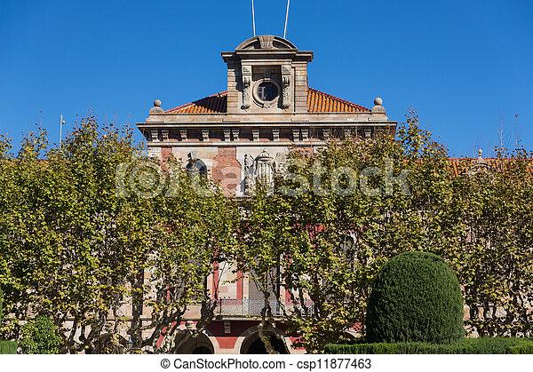 Barcelona - Parliament of autonomous Catalonia. Architecture landmark. - csp11877463