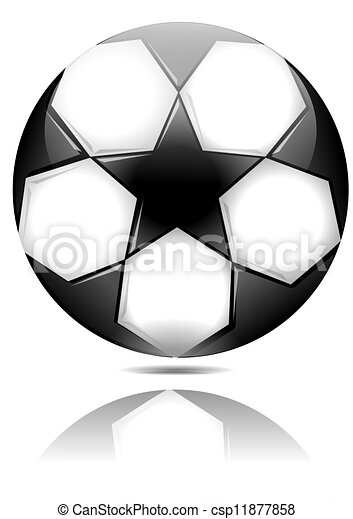 Clipart Vector Of Soccer Ball With Black Stars With