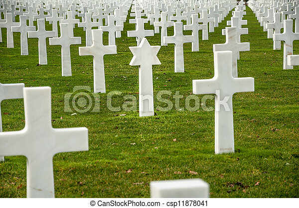 American military cemetery of the fallen during the landing in Normandy on D Day - csp11878041