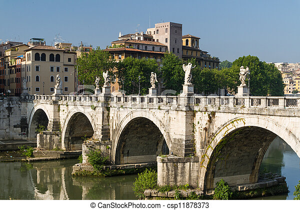 Rome bridges - csp11878373