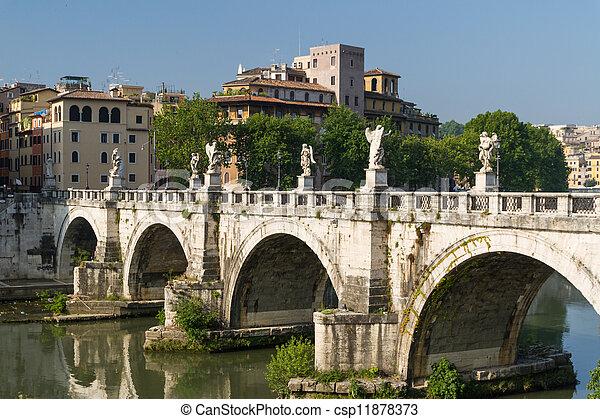 Rome bridges - csp11878373