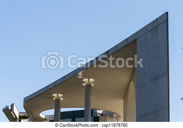 The Bundeskanzleramt / Kanzleramt / Chancellery is the seat of the German federal government and the residence of the German Bundeskanzler (Chancellor). It is located in Berlin, Germany. - csp11878760