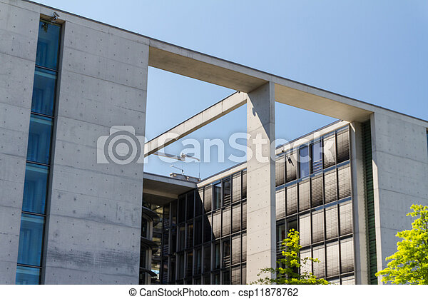 The Bundeskanzleramt / Kanzleramt / Chancellery is the seat of the German federal government and the residence of the German Bundeskanzler (Chancellor). It is located in Berlin, Germany. - csp11878762